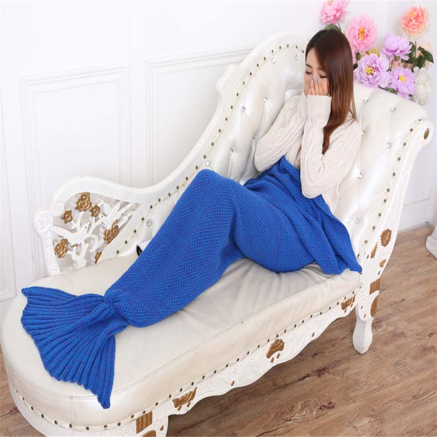 Hot sale China Handmade Knitted Mermaid Tail Blanket fish blanket