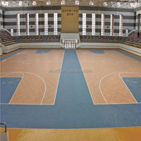 New material Eco friendly colorful pvc basketball flooring