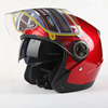 PP/ABS material OEM service factory direct sale cheap scooter open face motorcycle helmet