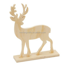 unfinished wood animal, plywood deer with stand