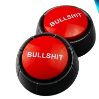 Gag Gift for Family, Friends and Co-Workers, Has Different Sayings custom talking bullshit button