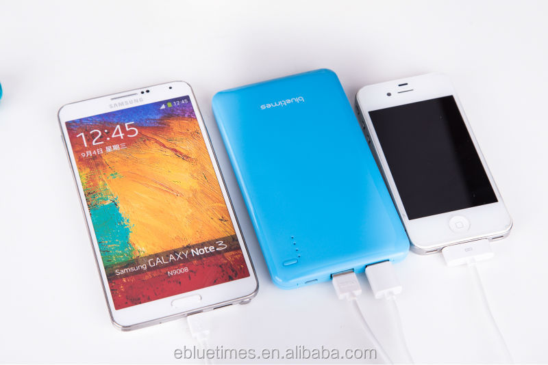 New model 10000mah ultra-thin polymer power bank for all android mobile phones and changing two ipad at the same time
