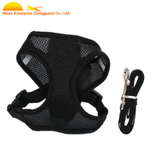 Pet Products Breathable Soft Fabric Full Body Mesh Dog Harness With Leash