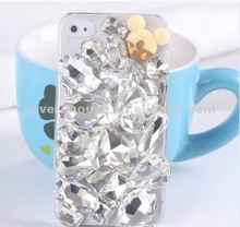 2012 Newest design Luxury crystal big bling Diamond hard case for iPhone4 4S