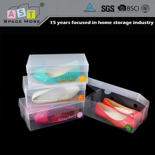 Chinese brand cheap price pp folding plastic clear man shoe box