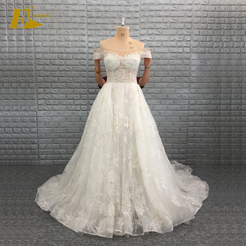 2017 Sample Pictures Off Shoulder Corset Luxury Latest Designs Wedding Gown