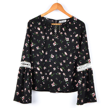 Fashionable Blouse Back Neck Embroidery Design Clothing Women Long Sleeve Blouse