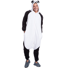 sleepwear Suit panda Adult Footed Onesize Pajamas cute family pajamas costume