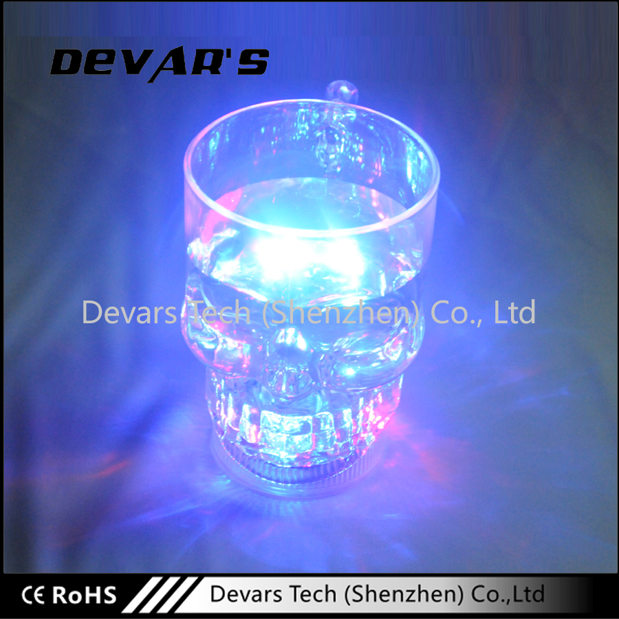 Party Decoration Cool Skull Plastic Led Flashing Cups