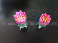 Colorful lotus music rotating birthday candle