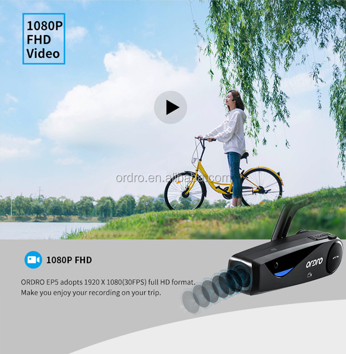 ORORO EP5 wearable camera full HD Video Camera with bluetooth wifi outdoor wearable digital video camera