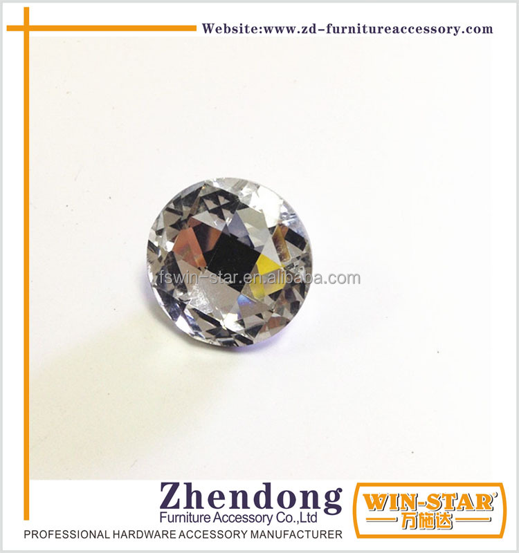 ZD-<strong>L023</strong> Cheap Transparent 30mm Glass Button From China