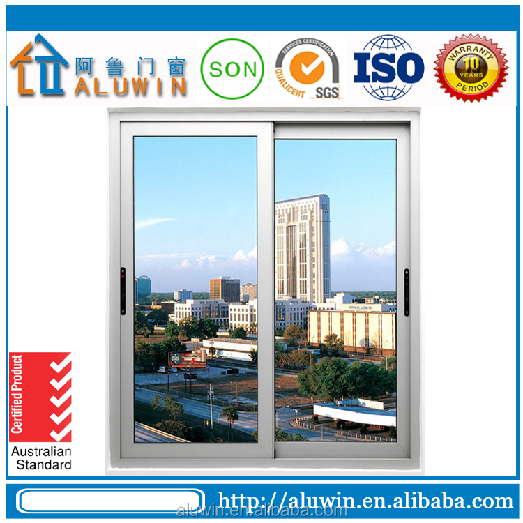 aluminium sliding window with mosquito screen