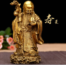 Gold Chinese resin god of fortune figurines