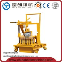 QT40-3C manual concrete block making machine for sale