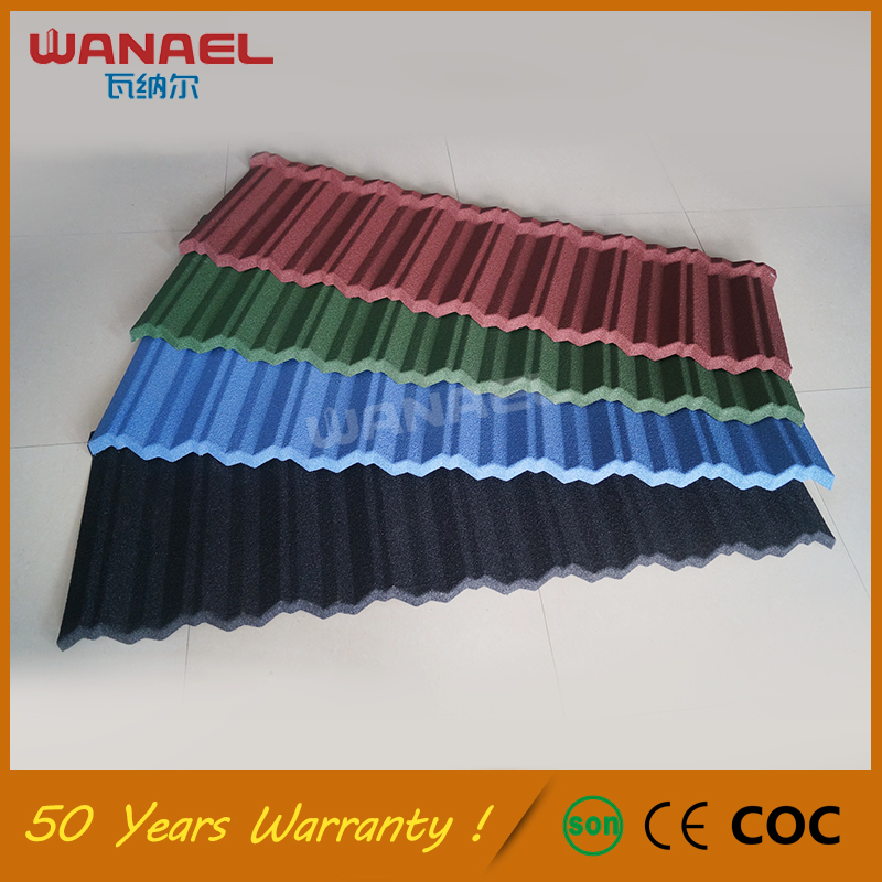 Modern house design Wanael Traditional anti-fading corrugated metal Light Weight Spanish Tile Roof