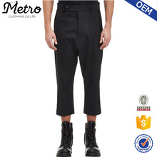 2015 OEM Custom Design High Quality New Design Black Canvas Cropped Trousers
