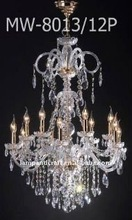 hotel lobby chandelier white crystal/chrome table lamp