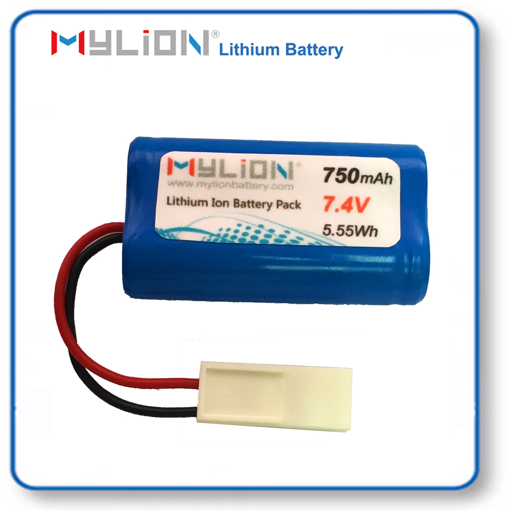 7.4v 750mah Lithium 14500 rechargeable battery for wireless portable radio