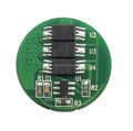 Protect Circuit Module PCB for 3.6V 3.7V (1S) Li-ion Battery Pack Working 9A Cutoff 13A Round shape