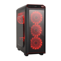 2019 Hot! Gaming case gaming computer case with tempered glass X-C6910 Metal structure size: L450*W195*H435