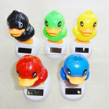 214061803 funny shake solar toys flower for decoration duck designed solar toy
