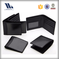 RFID blocking carbon fiber leather wallet