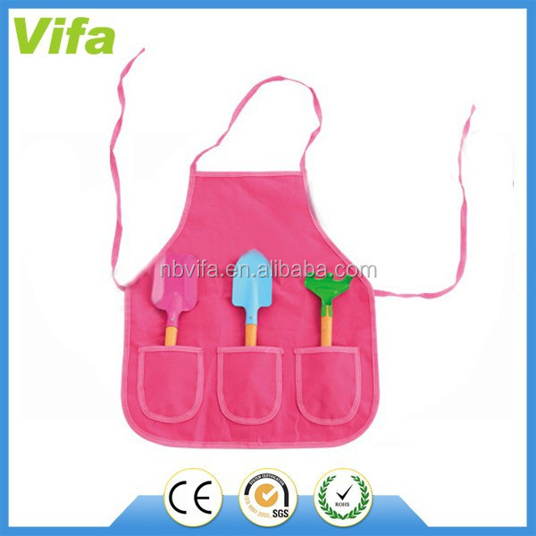 gardening apron with tools set