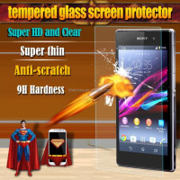 2015! 0.33mm 9H Tempered Glass For Sony Xperia Z1 L39H front Screen Protector Guard Anti Shatter Protective Cover Film
