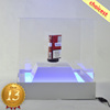 White Square Box With Blue Light Acrylic Magnetic Floating Cigarette Counter Display Box