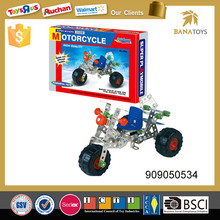 Brain teaser 208pcs motorcycle self assemble toys