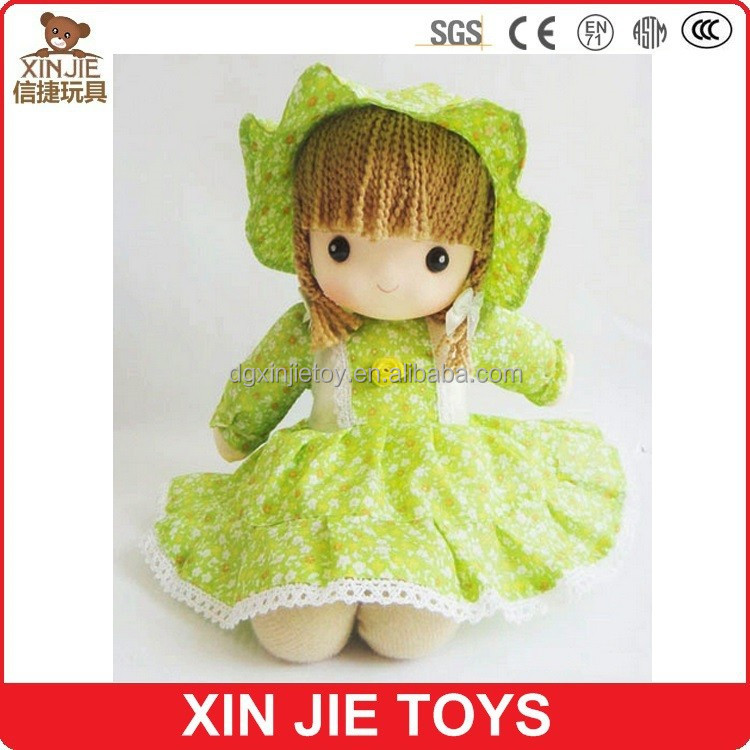 2015 new style push dolls custom soft dolls good quality stuffed doll