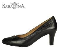 Latest women's pointed toe pump high heel shoes ladies' heel pump Black dress shoes