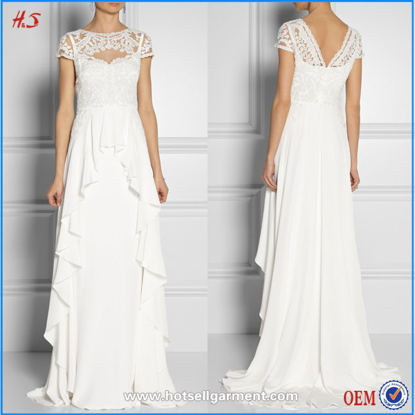 Unique fashion hot selling high quality silk and embroidery lace gown mother of the bride dress bride wedding dress