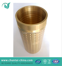 ISO 9001 passed China factory OEM cnc machining copper/brass/bronze pipe sleeve coupling