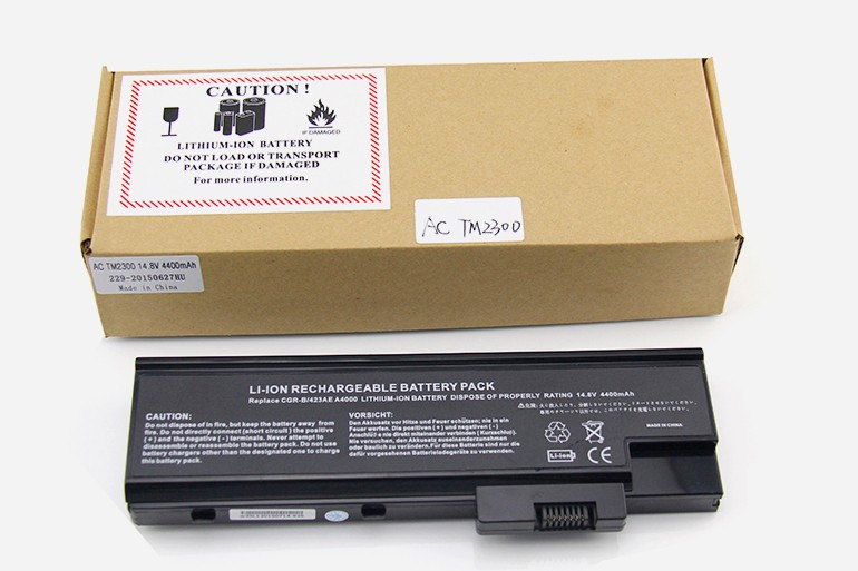 laptop battery manufacturer for AC TM2300 Battery For Acer Laptop Battery