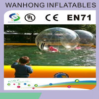 Durable TPU inflatable beach ball , walk on water balloon