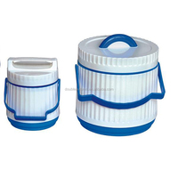 2PCS Plastic Insulated food warmer container
