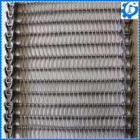 Side guard and flight type chain conveyor wire mesh belt