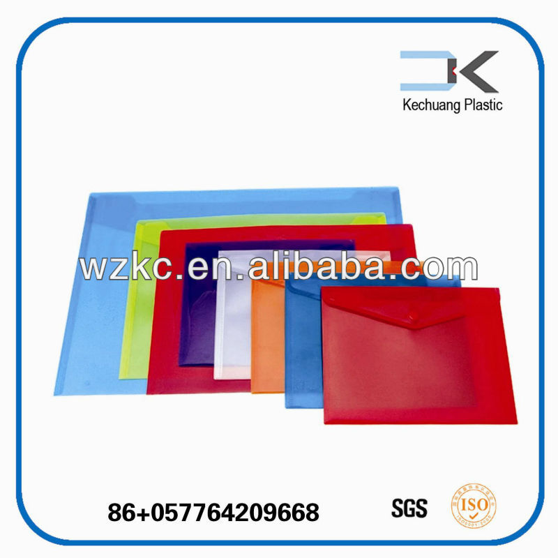 Transparent Plastic PP closure bag for car documents