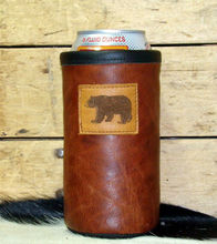 leather can holder leather stubby holder leather can holder