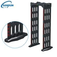 Portable folding door frame metal detector