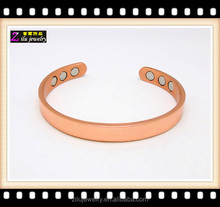 China Supplier Wholesale Solid Copper Magnetic Therapy magnetic copper bracelets for sale