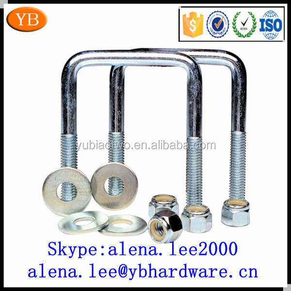 High strength flat u bolt clamp customized pipe