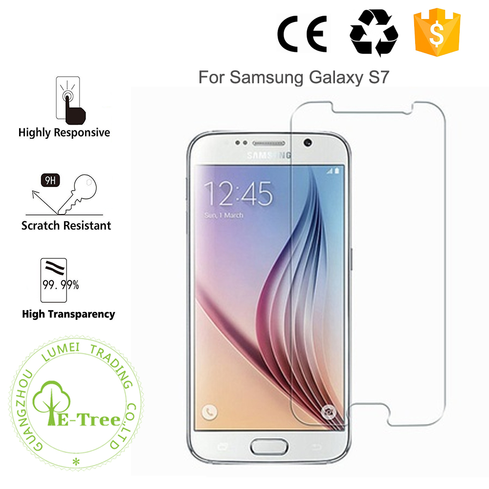Wholesale 9H Premium anti-scratch Tempered Glass Film Screen Protector For Samsung Galaxy S7