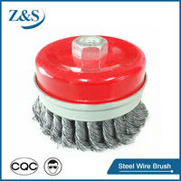 Wire brushes for welding, twist knot wire cup brush(65~150mm)