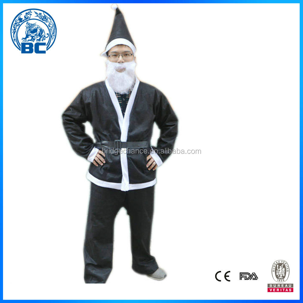 Wholesale High Quality Black Fancy Mascot Cute Christmas Santa Claus Costume