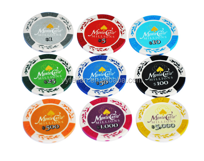 Monte carlo casino poker chips,can custom logo,clay material
