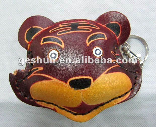 100% genuine leather animal coin sorter purse