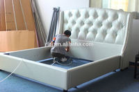 Leather material bed for two children leather material with good quality and price